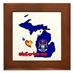 ILY Michigan Framed Tile