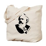 Silhouette Johannes Brahms Tote Bag