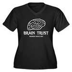 Brain Trust Women's Plus Size V-Neck Dark T-Shirt