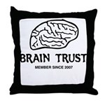 Brain Trust Throw Pillow
