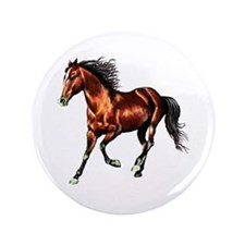 "Cantering Bay Horse 3.5"" Button (100 pack)"