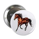 Cantering Bay Horse 2.25&quot; Button