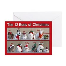 Twelve Buns of Christmas Greeting Cards (Pk of 20)