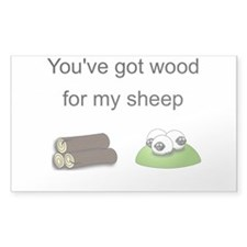 Wood For My Sheep Decal