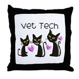 Vet Technician Throw Pillow