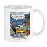 What keeps gray whales awake. Coffee Mug