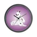 Bull Terrier Soli &amp;amp; Ozzy Wall Clock