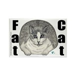 Fat Cat Rectangle Magnet (100 pack)