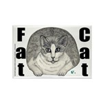 Fat Cat Rectangle Magnet