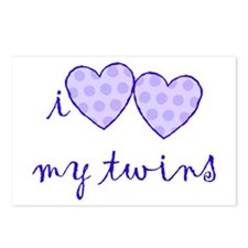 i heart heart my twins. Postcards (Package of 8)