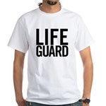 Life Guard (black) White T-Shirt