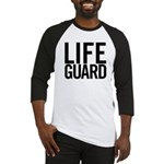 Life Guard (black) Baseball Jersey