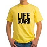 Life Guard (black) Yellow T-Shirt