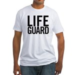 Life Guard (black) Fitted T-Shirt