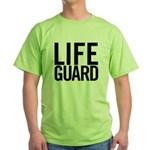 Life Guard (black) Green T-Shirt