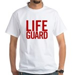 Life Guard (red) White T-Shirt
