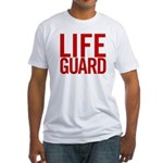 Life Guard (red) Fitted T-Shirt