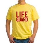 Life Guard (red) Yellow T-Shirt