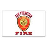 San Francisco Fire Department Sticker (Rectangle 1