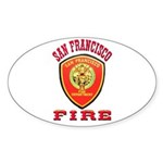 San Francisco Fire Department Sticker (Oval)