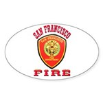 San Francisco Fire Department Sticker (Oval 10 pk)