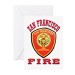 San Francisco Fire Department Greeting Cards (Pk o