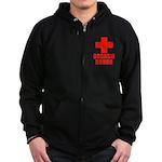 Orgasm Donor Zip Hoodie (dark)