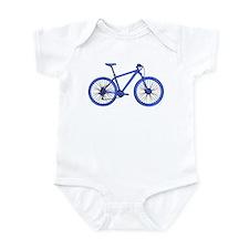 Blue Hardtail Mountain Bike Body Suit