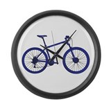 Cool Mountain biking Large Wall Clock