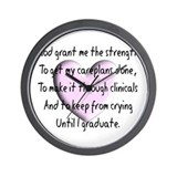 Nursing Student Wall Clock