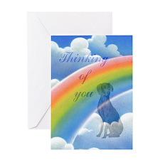 Weimaraner Sympathy Card Greeting Card
