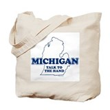 "Michigan ""Talk to the Hand"" Tote Bag"