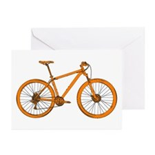 Unique Bicycles mountain Greeting Cards (Pk of 20)