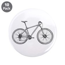 "Cute Bike ride 3.5"" Button (10 pack)"