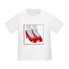 Red Ruby Slippers Cotton Toddlers T-Shirt 1