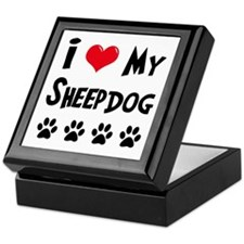 I Love My Sheepdog Keepsake Box