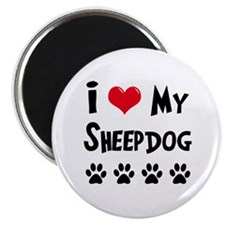 "I Love My Sheepdog 2.25"" Magnet (10 pack)"