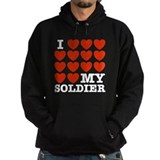 I Love My Soldier Hoody