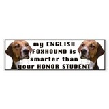 Smart English foxhound Bumper Bumper Sticker
