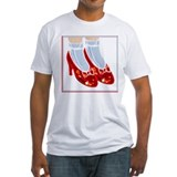 Red Ruby Slippers Fitted T Shirt