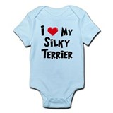 I Love My Silky Terrier Onesie