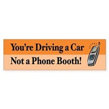Not a Phone Booth Bumper Car Sticker