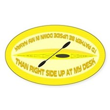 I'd Rather Be Upside Down (Yellow) Decal