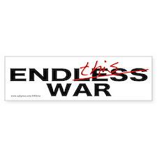 """""""End This War"""" Bumper Bumper Sticker"""