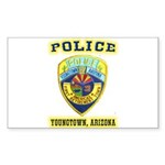 Youngtown Arizona Police Sticker (Rectangle 10 pk)