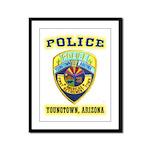 Youngtown Arizona Police Framed Panel Print