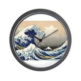 Kanagawa The Great Wave Wall Clock