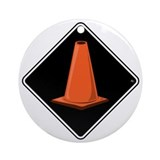 CONE ZONE Fun Stuff Ornament (Round)