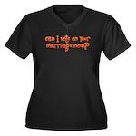 Vote on Your Marriage? Women's Plus Size V-Neck Da