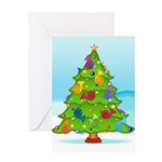 French Horn Christmas Greeting Card